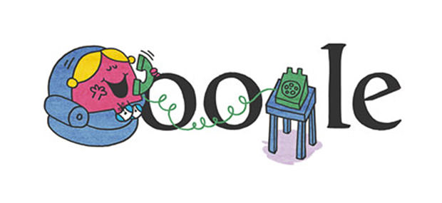 Google Doodle - Little Miss Chatterbox